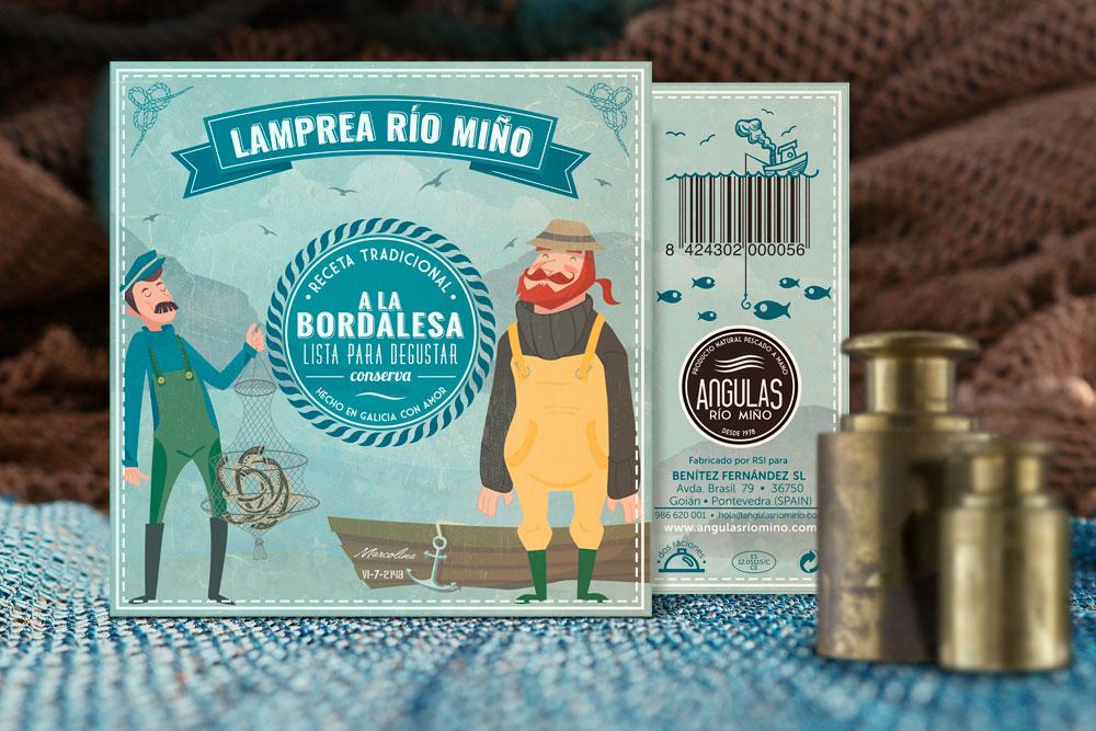 lamprea Río Miño