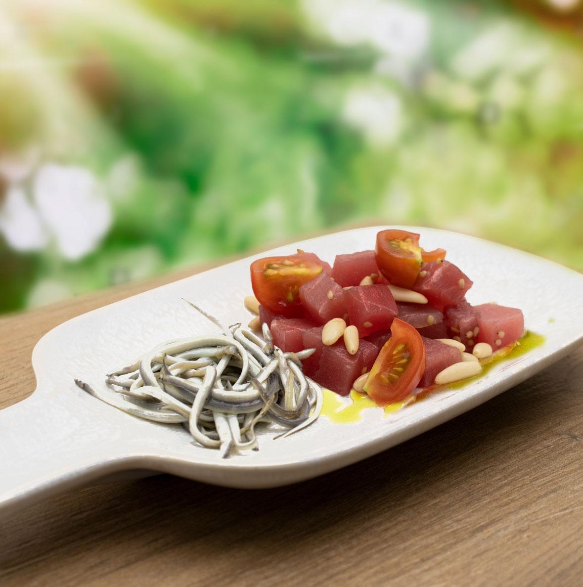 receta de angulas con tartar atún